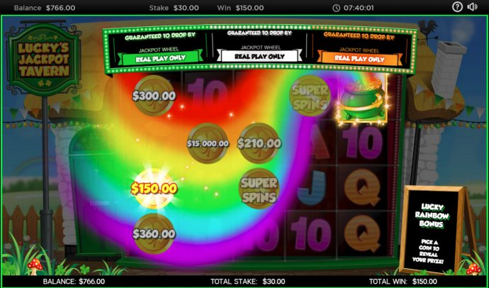 Feature pays out a modest win - No Deposit Casino Guide