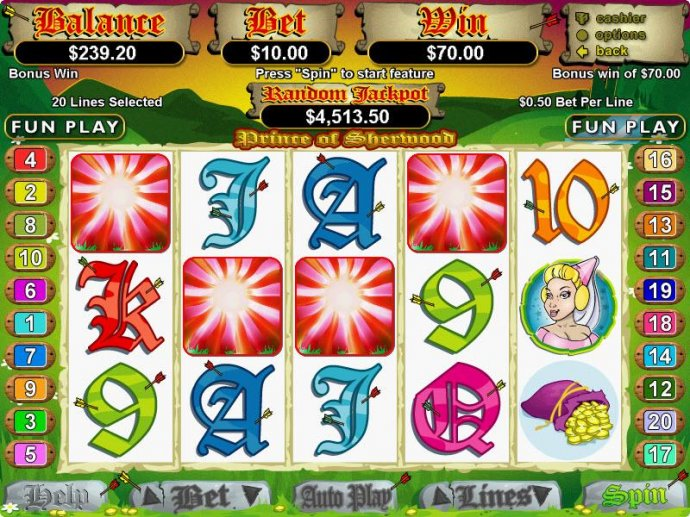 No Deposit Casino Guide image of Prince of Sherwood