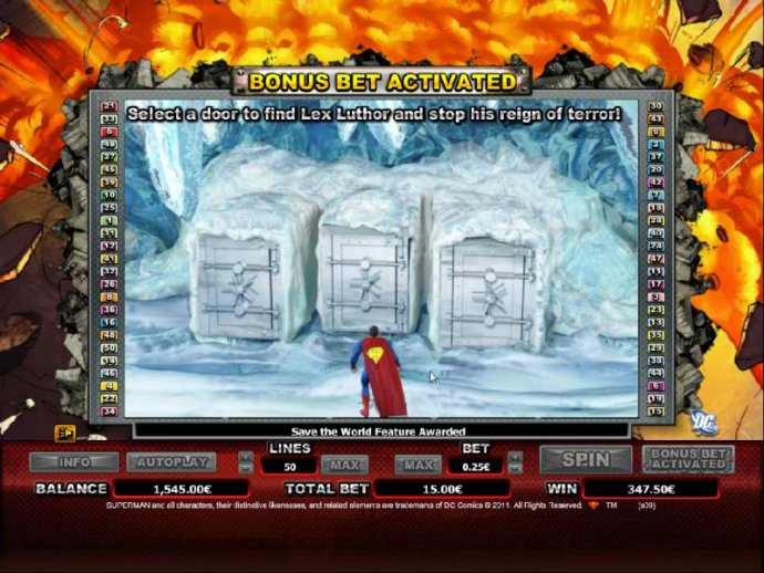 select a door to find lex luthor and stop his reign of terror by No Deposit Casino Guide