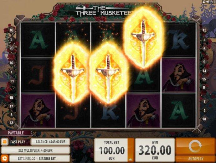 Three bonus symbols triggers the Free Spins feature. - No Deposit Casino Guide