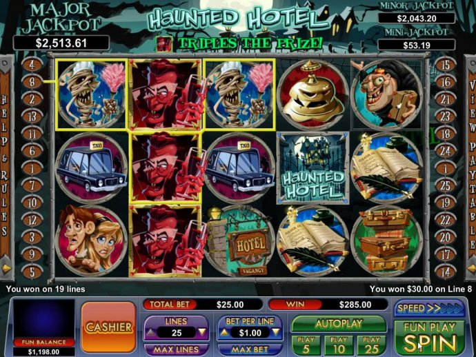 Haunted Hotel by No Deposit Casino Guide