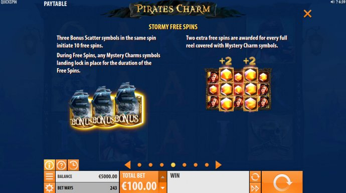 Pirates Charm by No Deposit Casino Guide