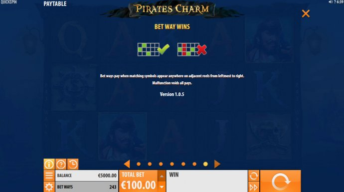No Deposit Casino Guide image of Pirates Charm