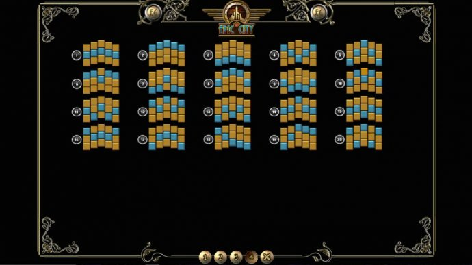 Payline Diagrams 1-20 - No Deposit Casino Guide