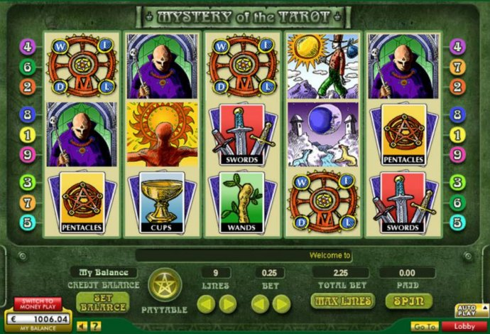 No Deposit Casino Guide image of Mystery of the Tarot