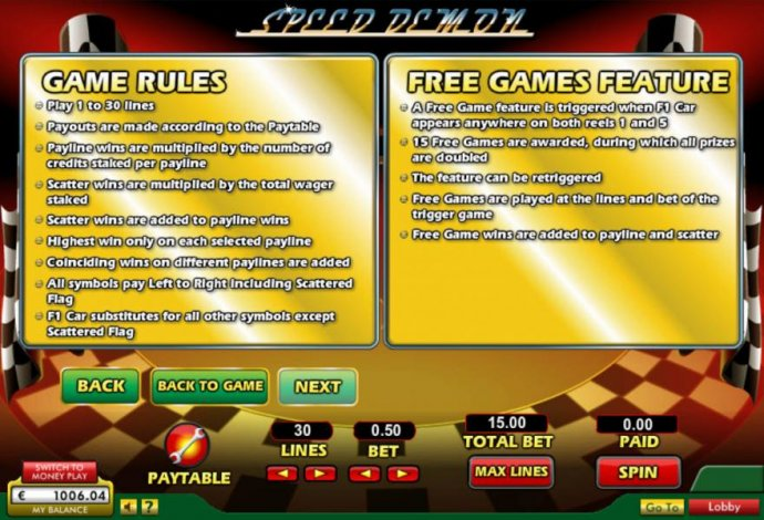 Game Rules and Free Games Rules - No Deposit Casino Guide