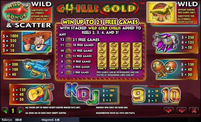 Chilli Gold screenshot