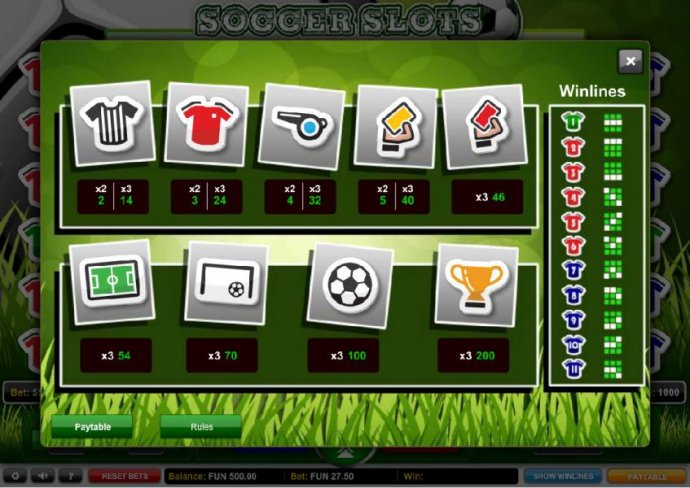 No Deposit Casino Guide image of Soccer Slots