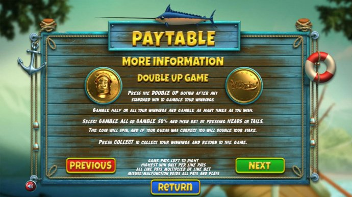 No Deposit Casino Guide - Double Up Gamble Feature Rules
