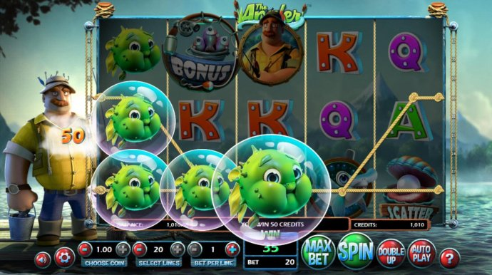 Winning blowfish paylines triggers a 50 coin award. by No Deposit Casino Guide