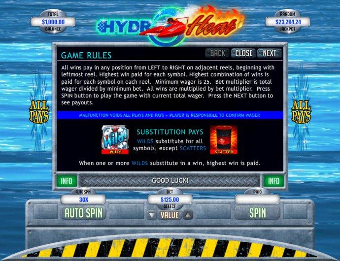 Hydro Heat by No Deposit Casino Guide