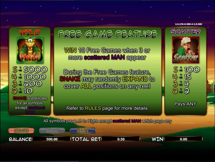 The Snake Charmer by No Deposit Casino Guide