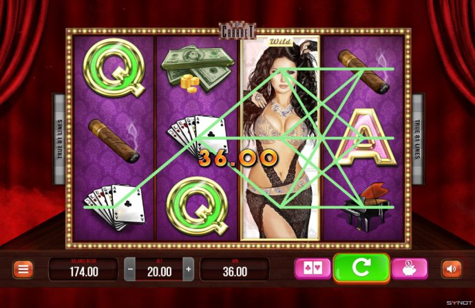 No Deposit Casino Guide - Stacked wild triggers multiple winning paylines