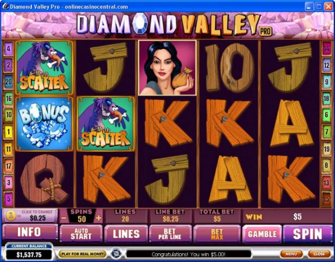 No Deposit Casino Guide image of Diamond Valley Pro