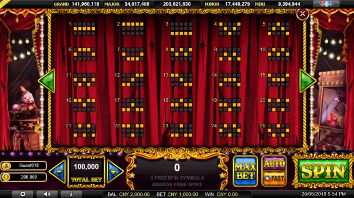 Midnight Carnival by No Deposit Casino Guide