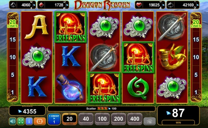 Three scatters appearing anywhere on reels 2, 3 and 4 triggers the bonus feature. by No Deposit Casino Guide