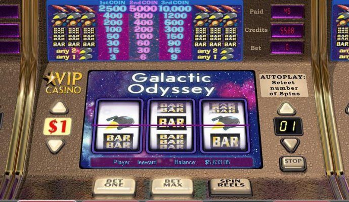 Galactic Odyssey by No Deposit Casino Guide