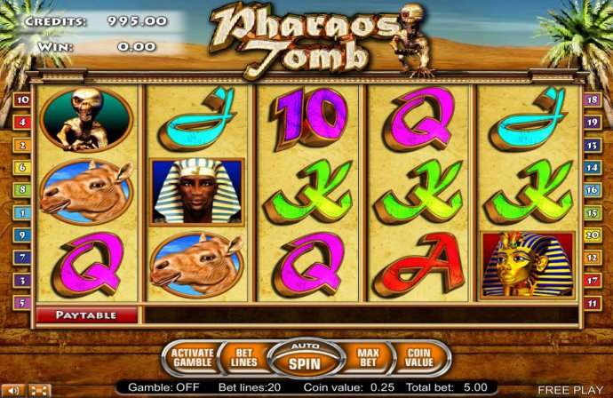 Pharaos Tomb by No Deposit Casino Guide