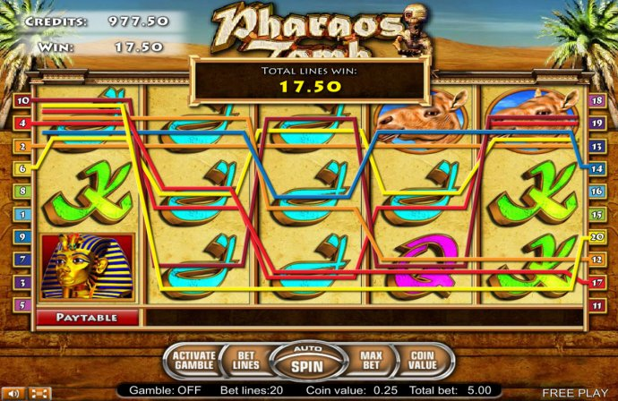 No Deposit Casino Guide image of Pharaos Tomb
