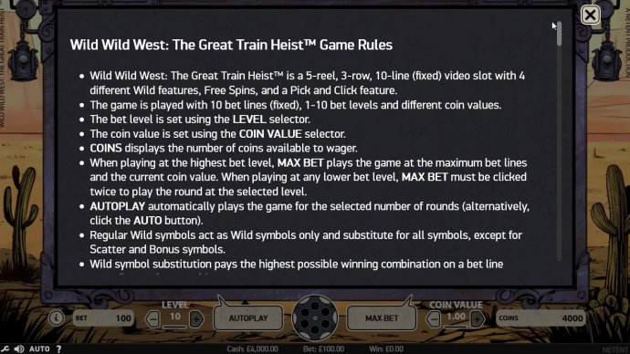 No Deposit Casino Guide image of Wild Wild West The Great Train Heist