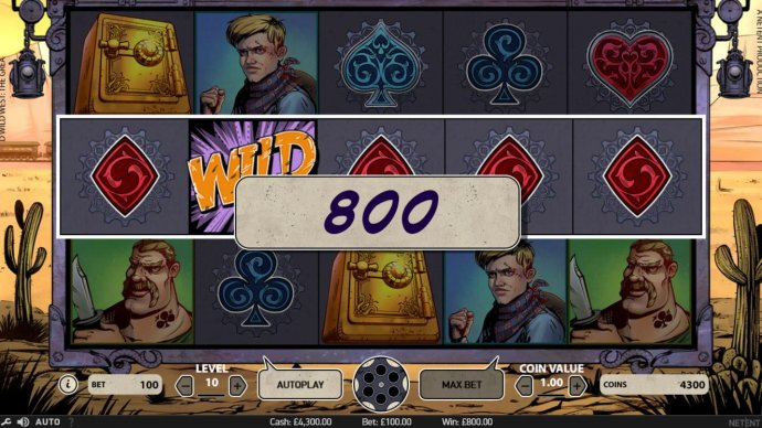 A five of a kind triggers an 800 coin payout. - No Deposit Casino Guide