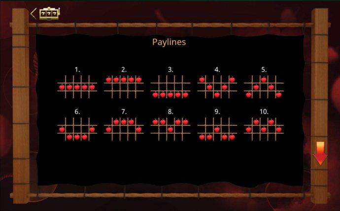 Payline Diagrams 1-10 - No Deposit Casino Guide