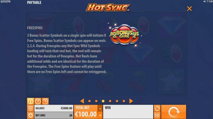 3 bonus scatter symbols on a single spin will initiate 8 free spins. - No Deposit Casino Guide