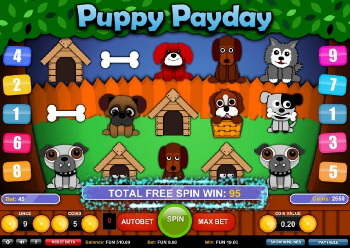 Puppy Payday by No Deposit Casino Guide
