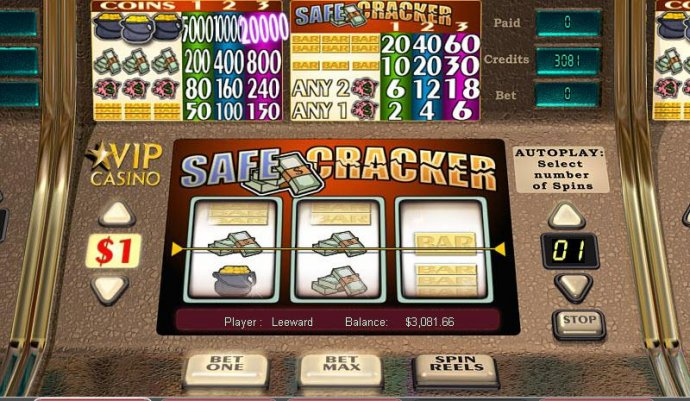 No Deposit Casino Guide image of Safe Cracker