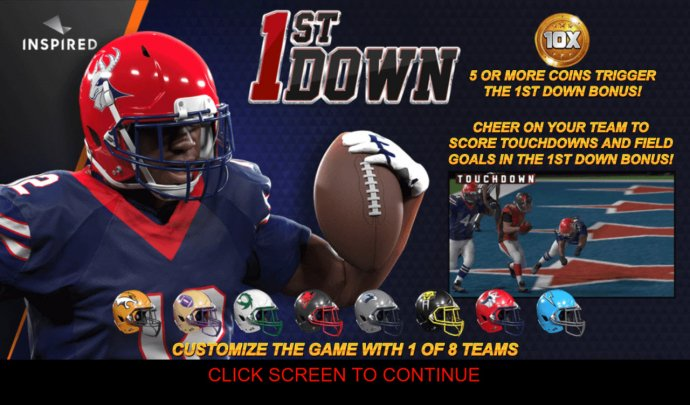 No Deposit Casino Guide image of 1st Down