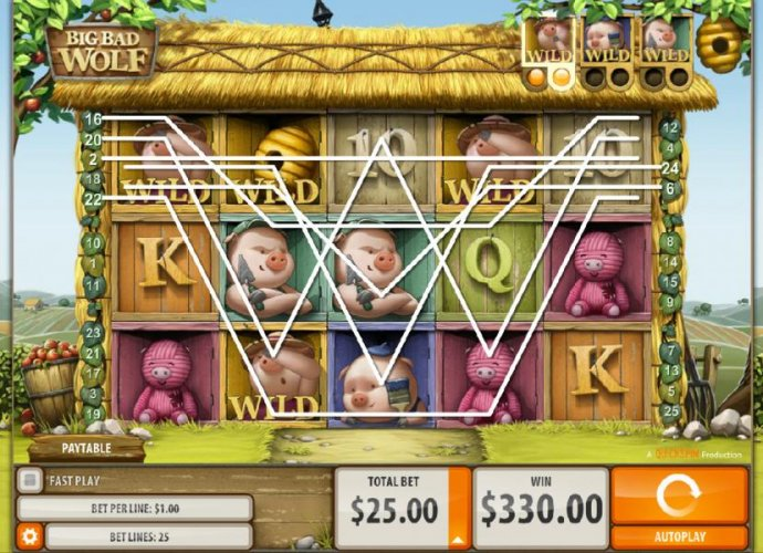 Multiple winning paylines triggers a big win! Pig symbols become Wilds after every second winning combination. - No Deposit Casino Guide