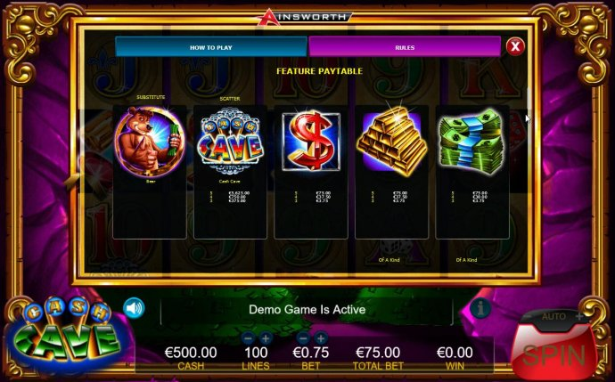 High value slot game symbols feature paytable. - No Deposit Casino Guide