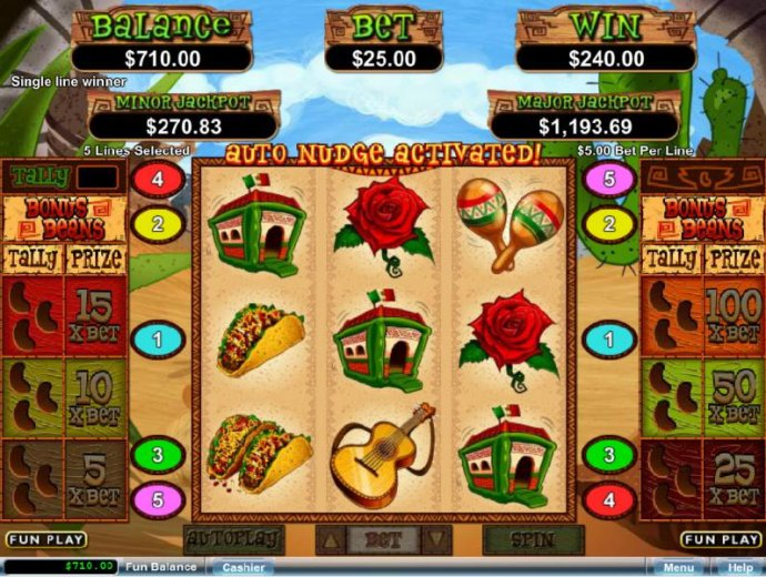 No Deposit Casino Guide image of Jumping Beans