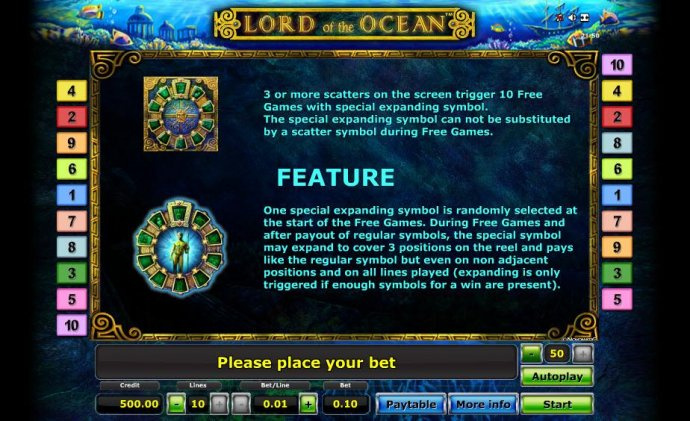 No Deposit Casino Guide image of Lord of the Ocean