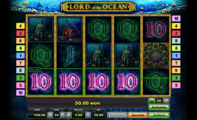 No Deposit Casino Guide - four of a kind triggers a 50.00 coin jackpot