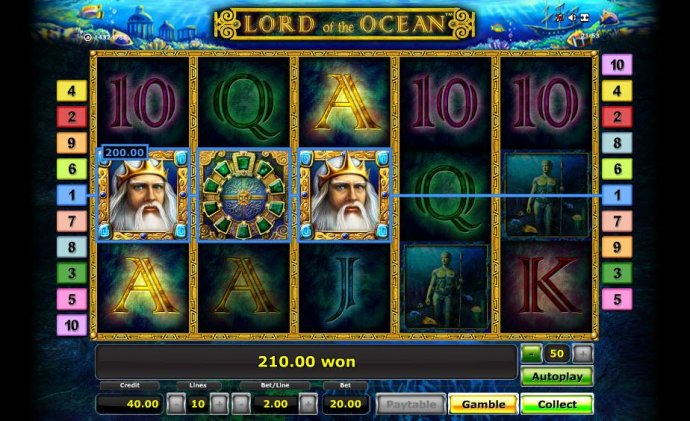 three of a kind triggers a 200.00 coin big win jackpot payout by No Deposit Casino Guide