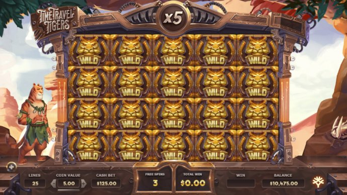 No Deposit Casino Guide image of Time Travel Tigers