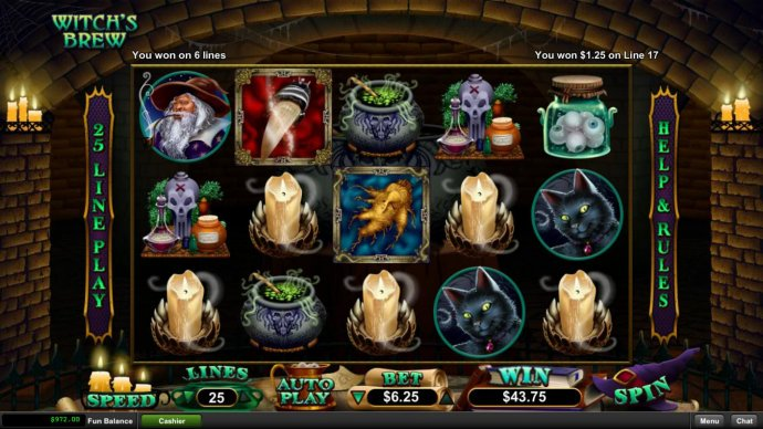 No Deposit Casino Guide image of Witch's Brew