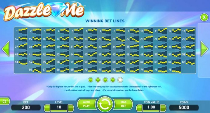 No Deposit Casino Guide image of Dazzle Me