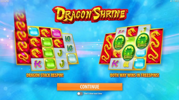Game features include: Dragon Stack Respin! Both way wins in Free Spins! by No Deposit Casino Guide