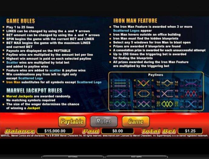 No Deposit Casino Guide image of Iron Man