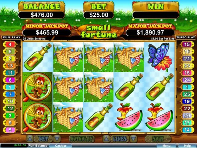 Wild symbols combine with Picnic Basket symbols triggering multiple winning paylines for a super mega win. - No Deposit Casino Guide