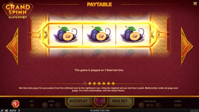 Grand Spinn Super Pot by No Deposit Casino Guide