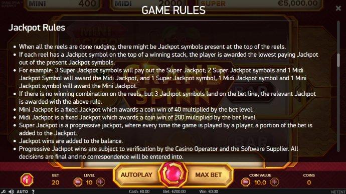 Grand Spinn Super Pot screenshot