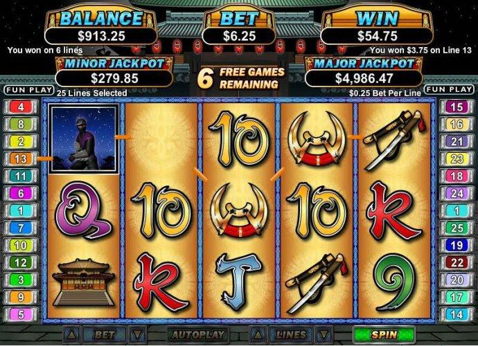 No Deposit Casino Guide - multiple winning paylines triggers a $60 jackpot