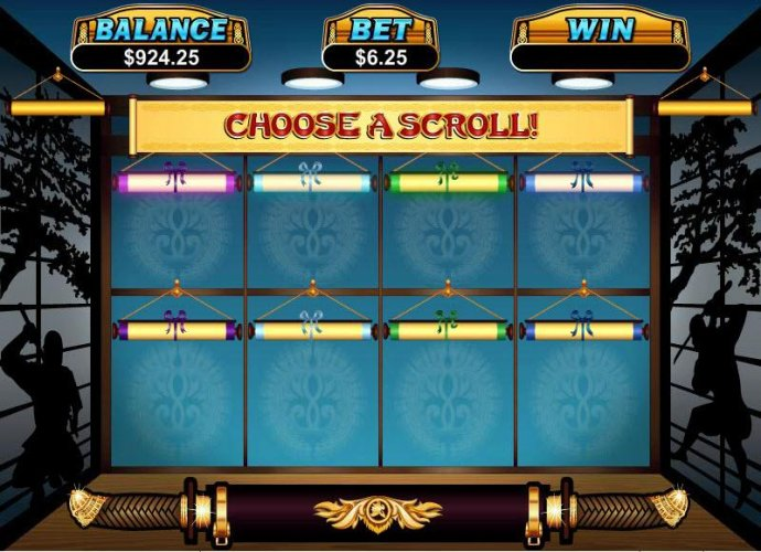 No Deposit Casino Guide - choose a a scroll to reveal your prize award