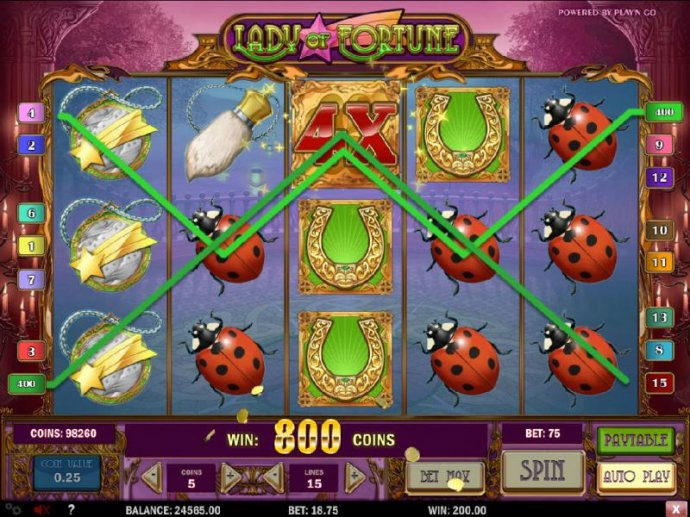 No Deposit Casino Guide - Multiple winning paylines and a 4x wild lead to an 800 coin jackpot