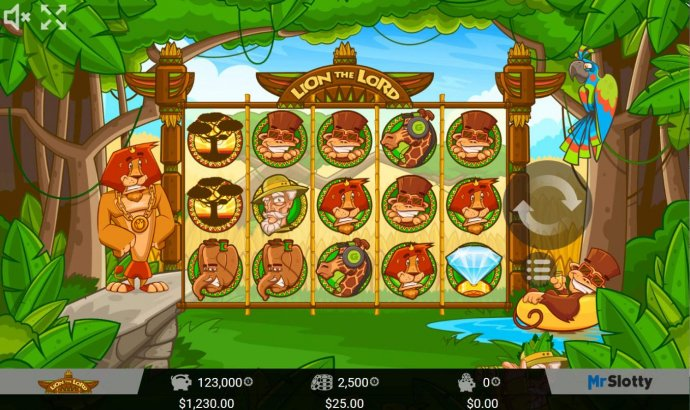 Main game board featuring five reels and 25 paylines with a $200,000 max payout. by No Deposit Casino Guide