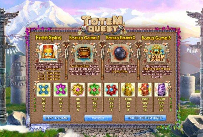 No Deposit Casino Guide image of Totem Quest