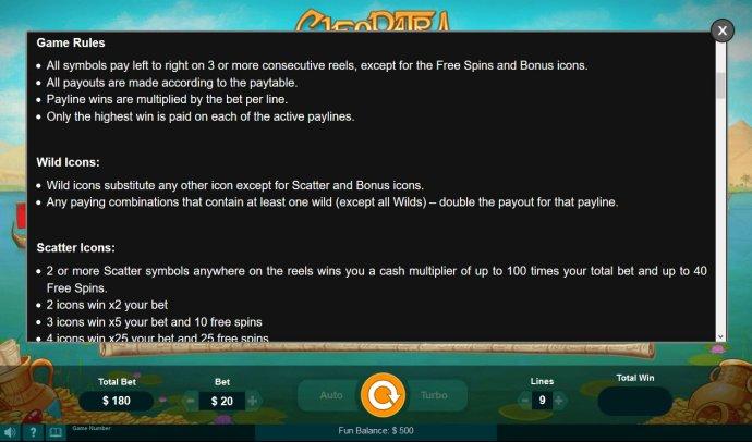 Cleopatra screenshot